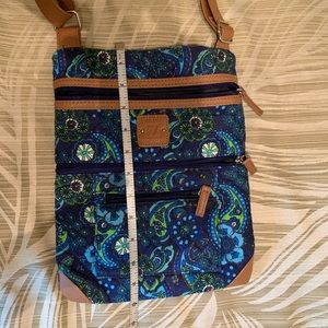 Stone Mountain Navy Blue Paisley Quilted Crossbody
